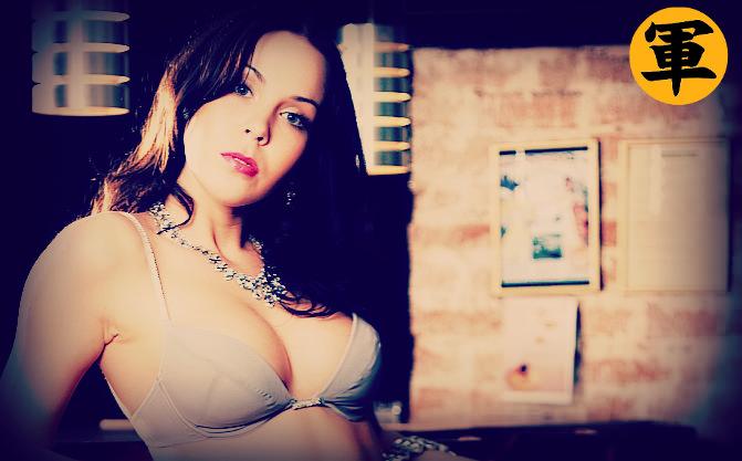Woman in beige bra